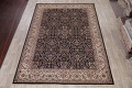 All-Over Black Floral Agra Oriental Wool Rug 9x12 image 2