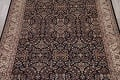 All-Over Black Floral Agra Oriental Wool Rug 9x12 image 3