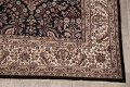 All-Over Black Floral Agra Oriental Wool Rug 9x12 image 5