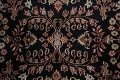 All-Over Black Floral Agra Oriental Wool Rug 9x12 image 11