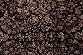 All-Over Black Floral Agra Oriental Wool Rug 9x12 image 12