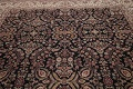All-Over Black Floral Agra Oriental Wool Rug 9x12 image 13