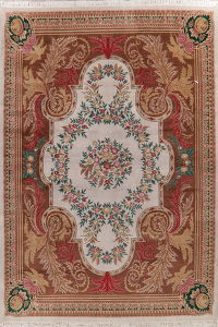 Victorian Style Aubusson Indian Oiental Wool Rug 10x14