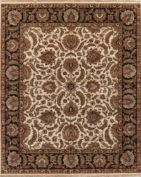 All-Over Floral Ivory Agra Indo Oriental Area Rug 8x10