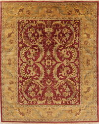 Floral Red Agra Indian Oriental Area Rug 8x10