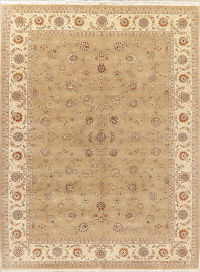 Light Brown Floral Oushak Oriental Area Rug 9x12