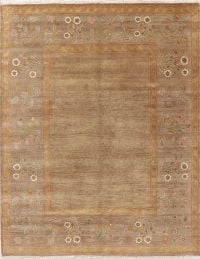Modern Aubusson Indian Oriental Wool Rug 8x10