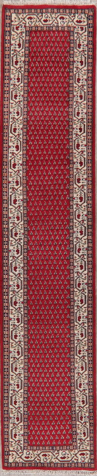 Red Botemir Indian Oriental Wool Rug