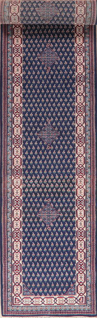 Navy Blue Botemir Indian Oriental Wool Rugs