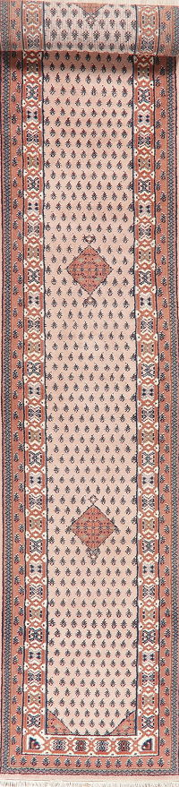Pink Geometric Botemir Indian Oriental Wool Rugs
