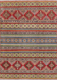 Multi-Color Super Kazak-Chechen Oriental Rug 5x7