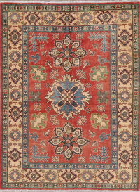 Geometric Super Kazak Pakistan Wool Rug 5x7