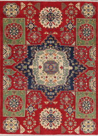 Red Super Kazak-Chechen Oriental Area Rug 5x7