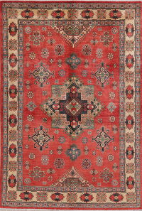 Red Super Kazak-Chechen Oriental Area Rug 6x8