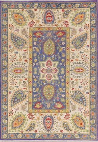 Purple Super Kazak-Chechen Oriental Area Rug 6x9