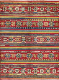Multi-Color Super Kazak-Chechen Oriental Area Rug 5x7