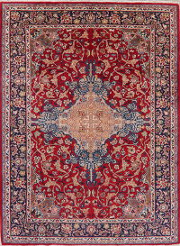 Red Floral Najafabad Persian Wool Area Rug 9x12