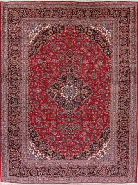 Traditional Red Floral Kashan Persian Area Rug 10x13