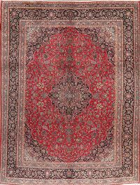 Vintage Floral Red Najafabad Persian Wool Area Rug 10x13