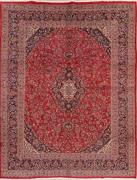 Traditional Floral Mashad Persian Wool Area Rug 10x12