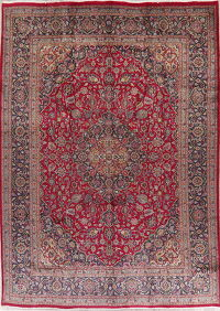 Traditional Floral Red Kashmar Persian Wool Area Rug 10x14