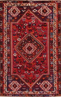 Tribal Red Geometric Shiraz Persian Area Rug 5x9