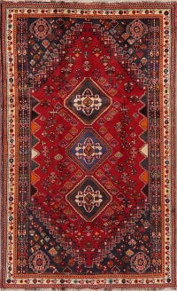 Tribal Geometric Abadeh Nafar Persian Area Rug 5x9