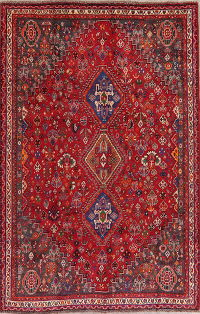 Tribal Abadeh Nafar Persian Area Rug 6x9