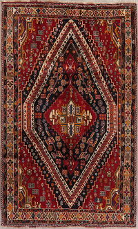 Tribal Geometric Kashkoli Shiraz Persian Area Rug 5x8