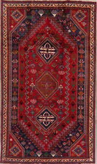 Tribal Geometric Shiraz Persian Wool Area Rug 5x9