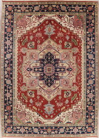 Geometric Heriz Indian Oriental Wool Area Rug 10x14
