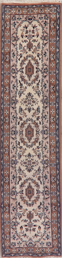 Floral Ivory Bidjar Indian Oriental Wool Rugs