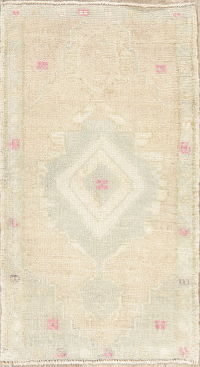 Mute Distressed Oushak Turkish Oriental Wool Rug 2x3
