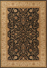 Floral Classic Black Turkish Oriental Area Rug 7x10