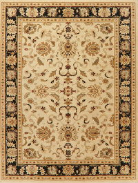 Beige Floral Classic Turkish Oriental Area Rug 8x11