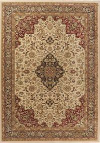 Traditional Floral Beige Turkish Oriental Area Rug 8x11