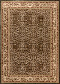 Black Geometric Tabriz Turkish Oriental Area Rug 8x11