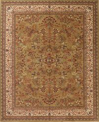 Floral Green Classic Turkish Oriental Area Rug 8x10