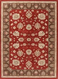 Floral Red Turkish Oriental Area Rug 8x11