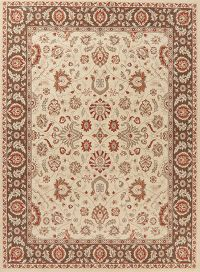 Ivory Floral Turkish Oriental Area Rug 8x10