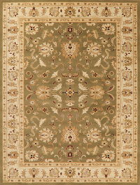 Green Floral Classic Turkish Oriental Area Rug 8x10