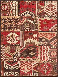 Patchwork Style Red Turkish Oriental Area Rug 8x10
