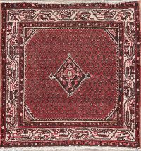 Vintage Red Malayer Persian Rug 3x3 Square