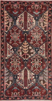 Geometric Red Bakhtiari Persian Wool Runner Rug 3x6