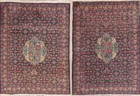 Set of 2 Vegetable Dye Antique Tabriz Persian Rug 3x3 Square