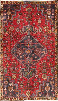 Vintage Tribal Geometric Tabriz Persian Wool Rug 3x5