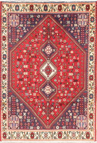 Tribal Geometric Abadeh Persian Wool Rug 3x5