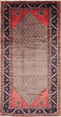 Brown Geometric Koliaie Persian Wool Rug 5x9