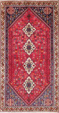 Vintage Red Tribal Abadeh Persian Runner Rug 3x6