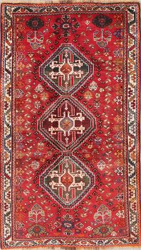 Vintage Tribal Red Abadeh Nafar Persian Runner Rug 3x6